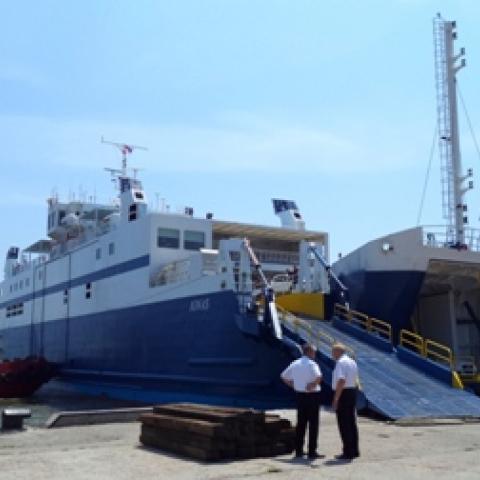 Керченская паромная переправа может приостановить работу 23-26 октября из-за плохой погоды.