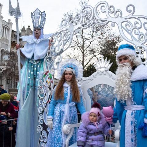 Новогодние приключения для детворы в Евпатории.